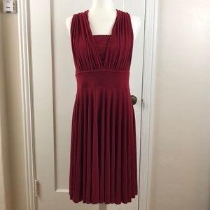 White House Black Market red 14 convertible dress